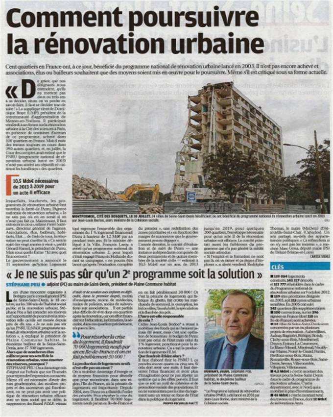 Rénovation urbaine -stéphane peu